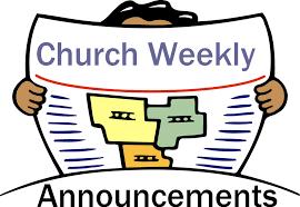 weekly announcements faith community church